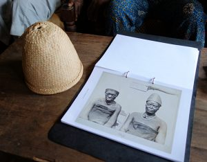 Photo elicitation research in Afokpella, North Edo. Photograph by Paul Basu.