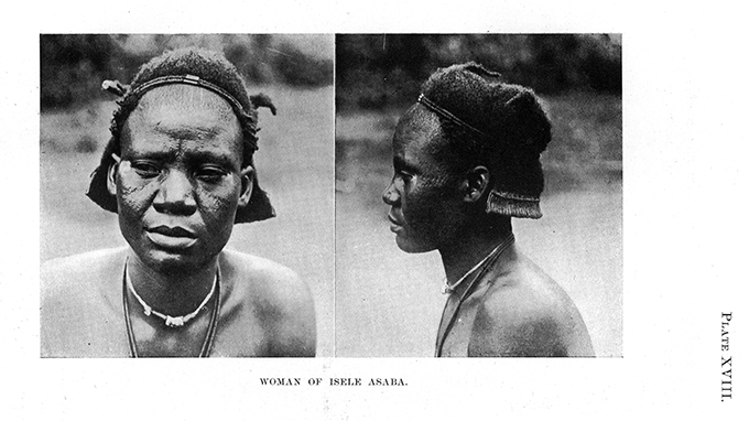 N. W. Thomas, Anthropological Report on the Ibo-speaking Peoples of Nigeria, Part IV, PLate 18. Woman of Isele Asaba.