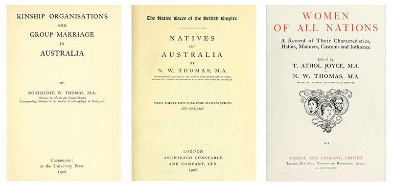 Title pages of N. W. Thomas books