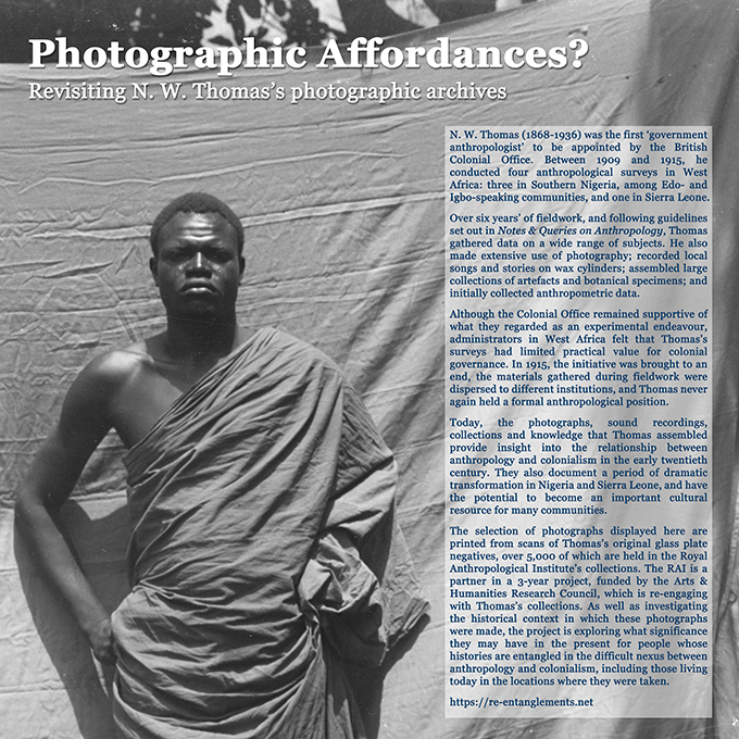 Photographic Affordances exhibition, Royal Anthropological Institute, January 2018.