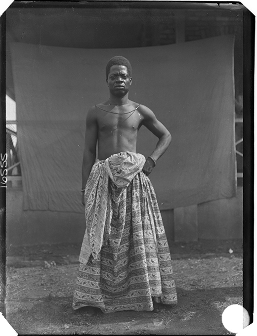 Chief Iyamu, photographed by N. W. Thomas in Benin City in 1909