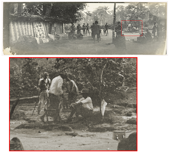 Ogugu ceremony, Agulu, Nigeria. Northcote Thomas in background behind camera, 1910-11.