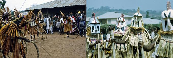 Jean Borgatti Eliminya Festival masquerades in detail