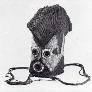 Jean Borgatti photograph of Northcote Thomas Ibillo mask, 1969.