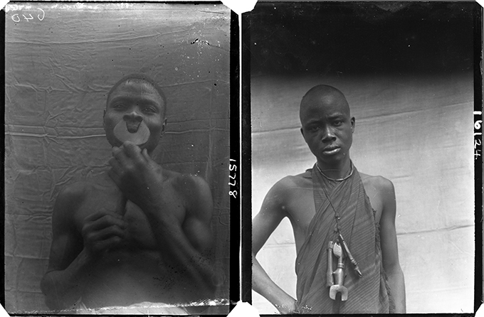 Northcote Thomas photographs of flute players, Southern Nigeria, 1909 and 1911.