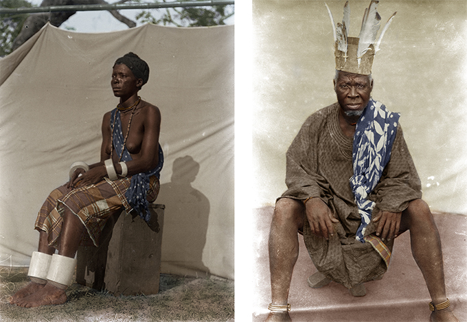 Chiadikoni Nwaubani colourised versions of Northcote Thomas photographs (NWT 2972 and 2227)