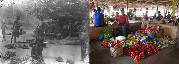 Eke Market, Agukwu Nri in 1911 and today
