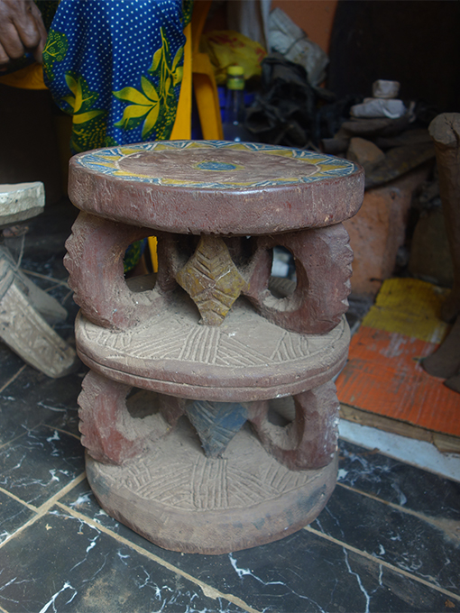 Stool carved by Chief Anaemena for his Ozo title taking ceremony, Amansea