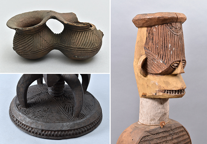 Ichi designs on objects in the Northcote Thomas collections at the Cambridge Museum of Archaeology and Anthropology