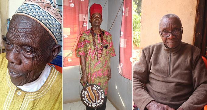Chief Odidika Chidolue, Nze R. O. Udeze and Chirizu Igwilo, Neni