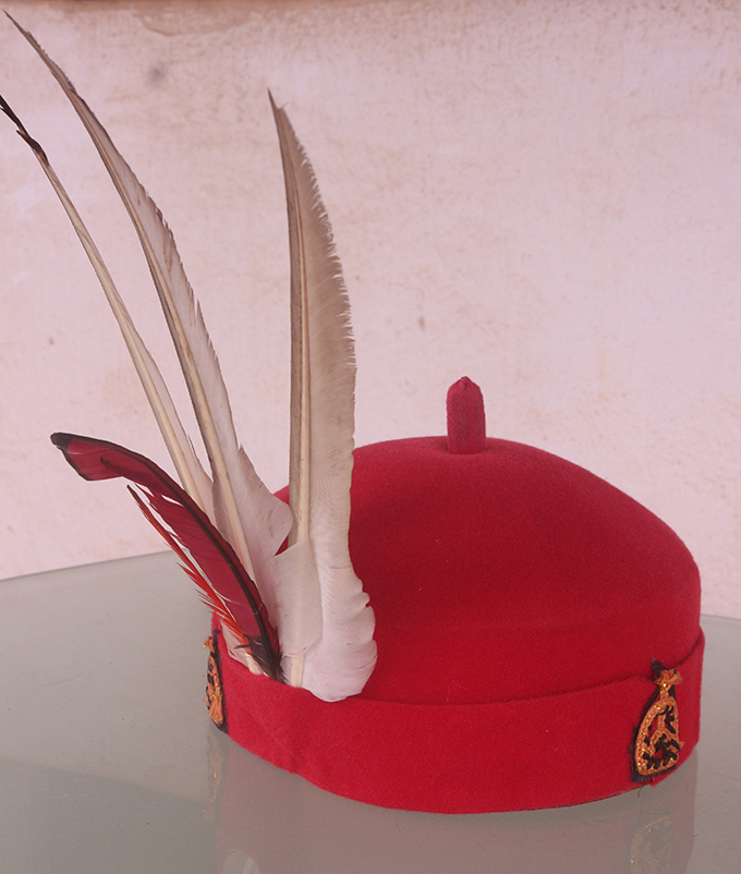 Red cap worn by the Omu of Okpanam
