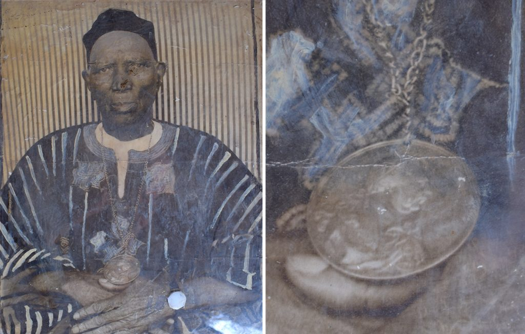 Old photograph of PC Samura Bangura, paramount chief of Sanda Loko chiefdom