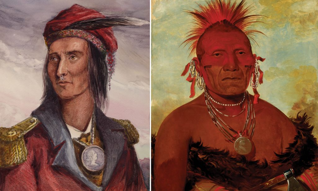 North American Indian Chiefs wearing British medals