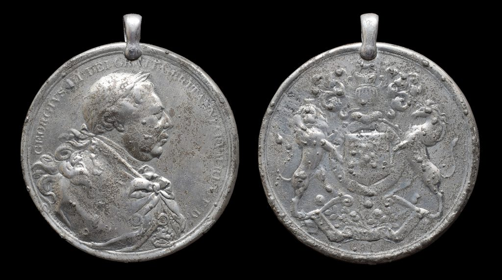 1853 issue pewter medal in Sierra Leone National Museum collection
