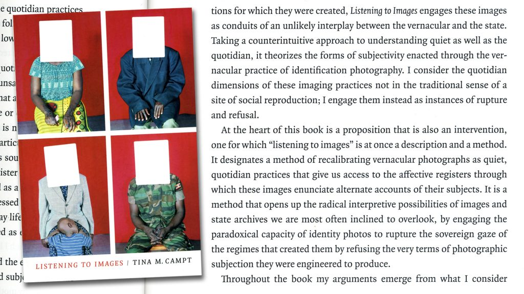 Tina M Campt, Listening to Images book