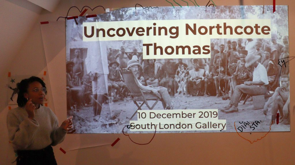 SLG Art Assassins, Emmanuelle Andrew's presentation Uncovering Northcote Thomas