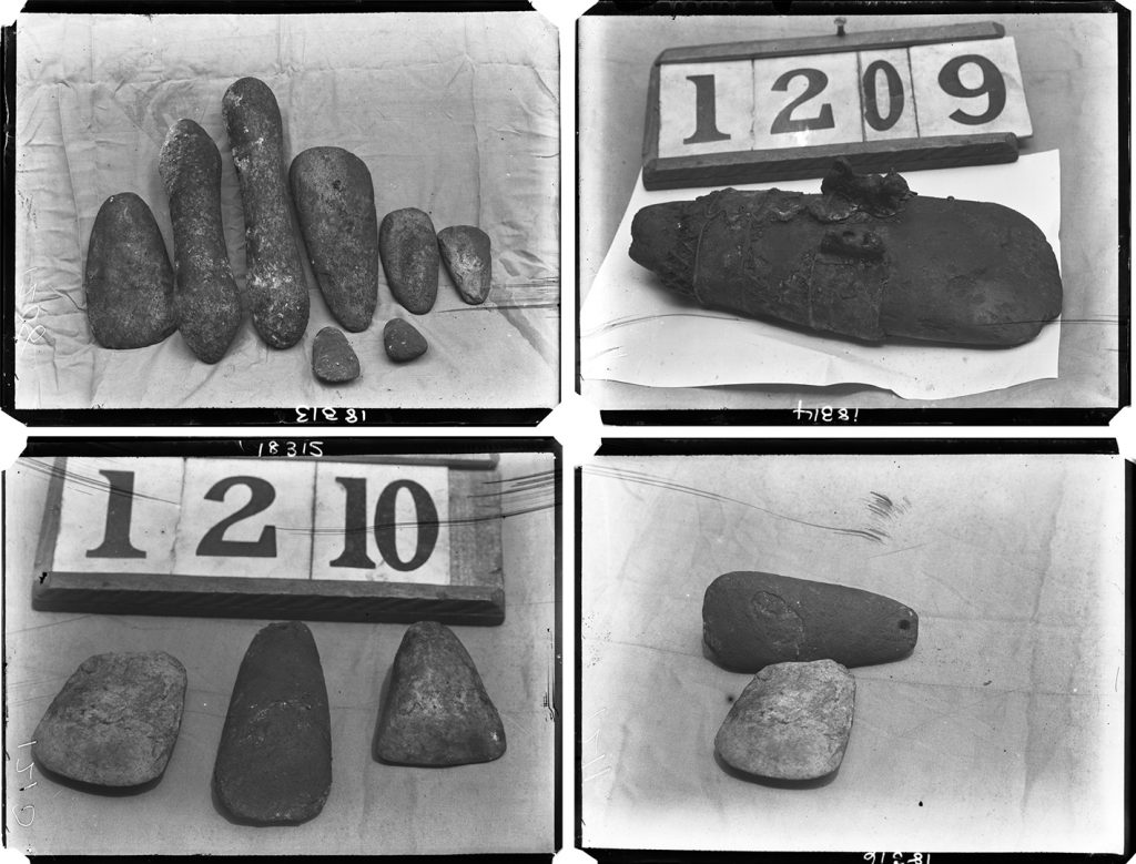 Stone implements from Ochwaihe, Benin City,1909