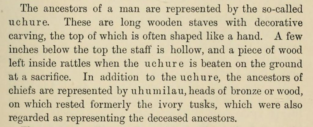 Excerpt from Northcote Thomas, Anthropological Report on the Edo-speaking Peoples of Southern Nigeria, 1910