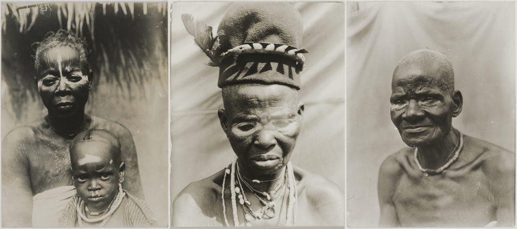 Northcote Thomas portraits of people with nzu markings