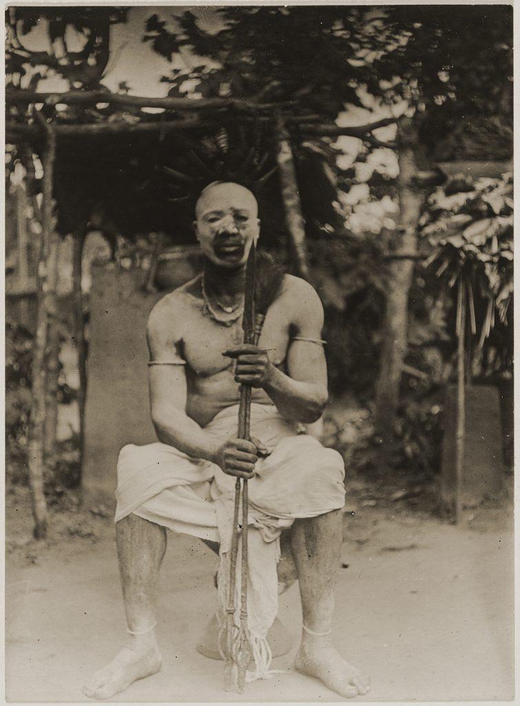 Northcote Thomas photograph of Obi Mgbeze Okpanam after his title-taking