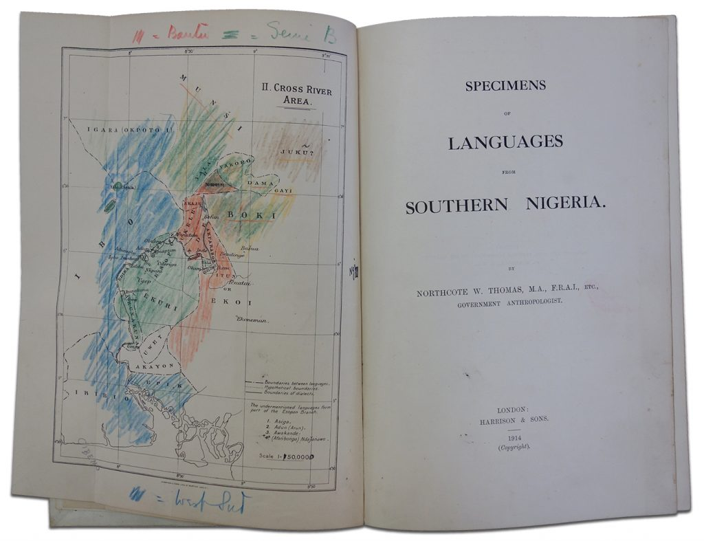 Northcote Thomas, Specimens of Languages from Southern Nigeria