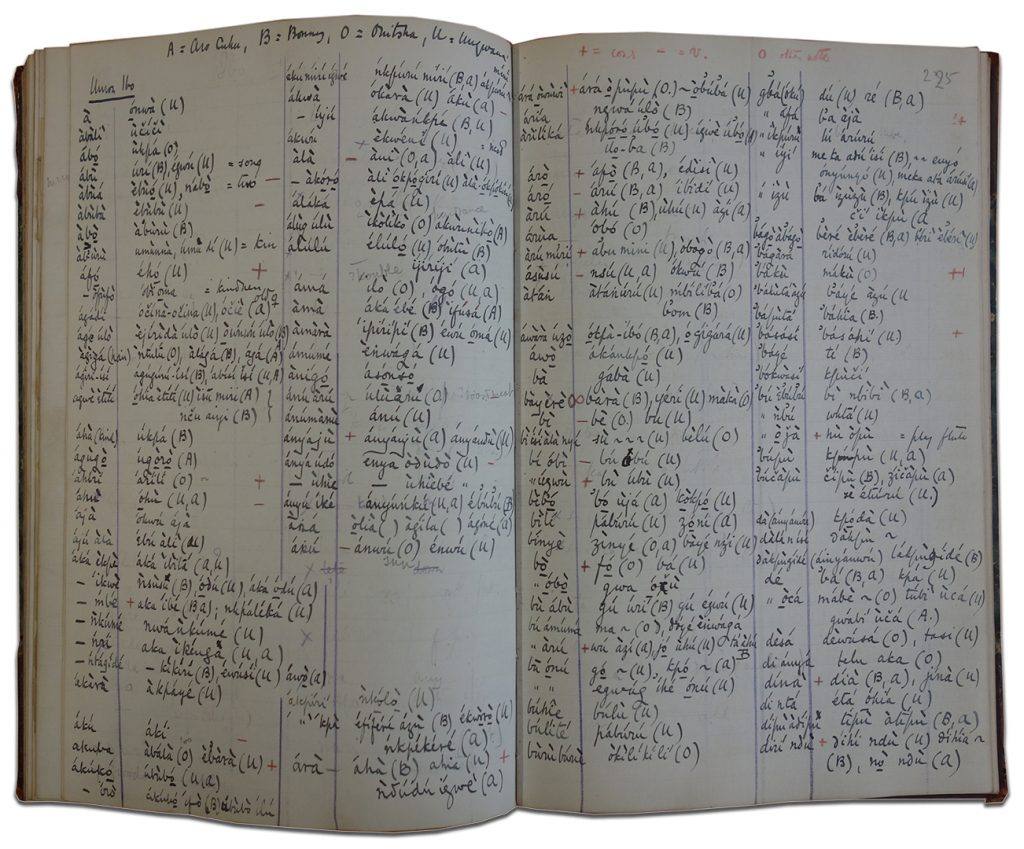 Northcote Thomas, linguistic notebook, Igbo dialects, 1910-13