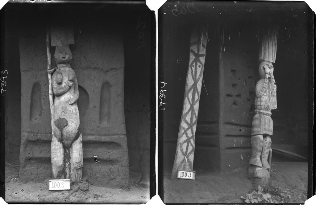 Carved houseposts, Ubiaja. Northcote Thomas, 1909