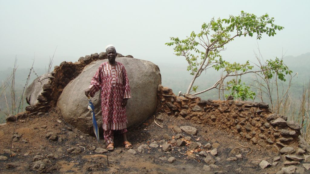 Chief Amadu Baio Conteh at Old Yagala, Sierra Leone
