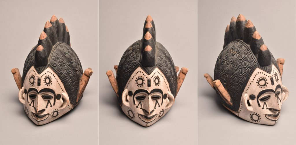 Maiden spirit mask collected by Northcote Thomas in Agukwu Nri, Nigeria.