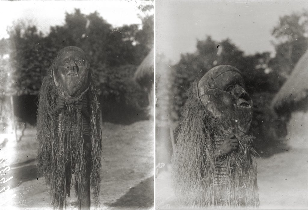 'Kabamba' circumcision mask photographed by Northcote Thomas in Mamaka, Sierra Leone in 1914