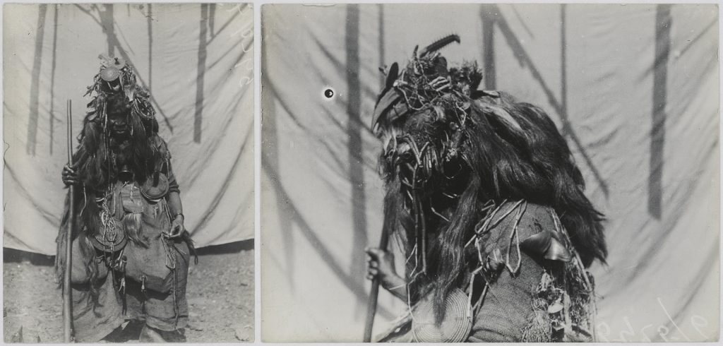 'Bondo devil' photographed by Northcote Thomas in Magbile, Sierra Leone in 1914