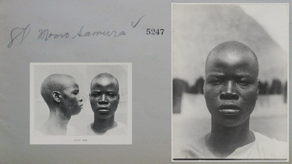Momo Samura, photographed by Northcote Thomas in Kamalo, Sierra Leone, 1914