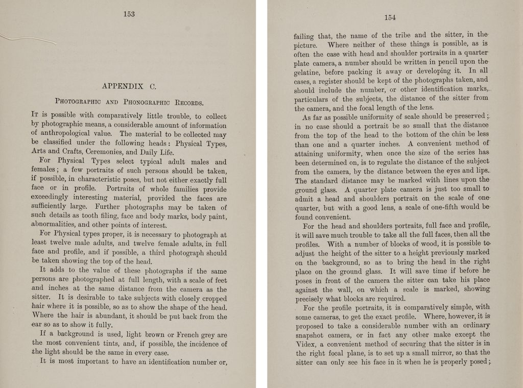 Appendix C of Northcote Thomas's Anthropological Report on the Edo-speaking Peoples of Nigeria concerning photographic and phonographic records